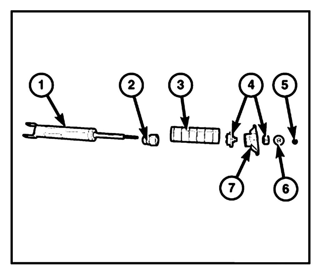 Позиции 4 и 7 – единое целое опоры амортизатора