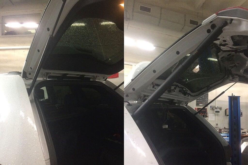 Крышка багажника Гранд Чероки до и после