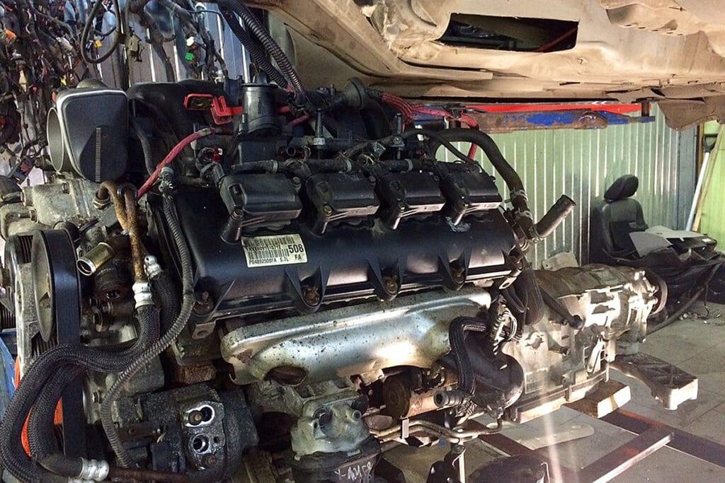 Двигатель не помещается в арку