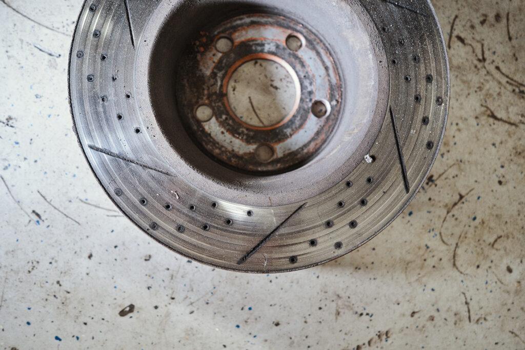 Неправильный износ тормозного диска
