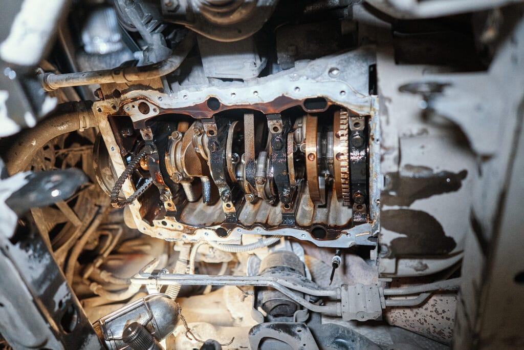 Двигатель Гранд Чероки 3.6 – вид на коленвал