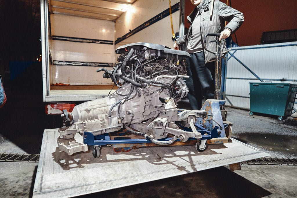 Правильная доставка двигателя Гранд Чероки 3.6 с разборки