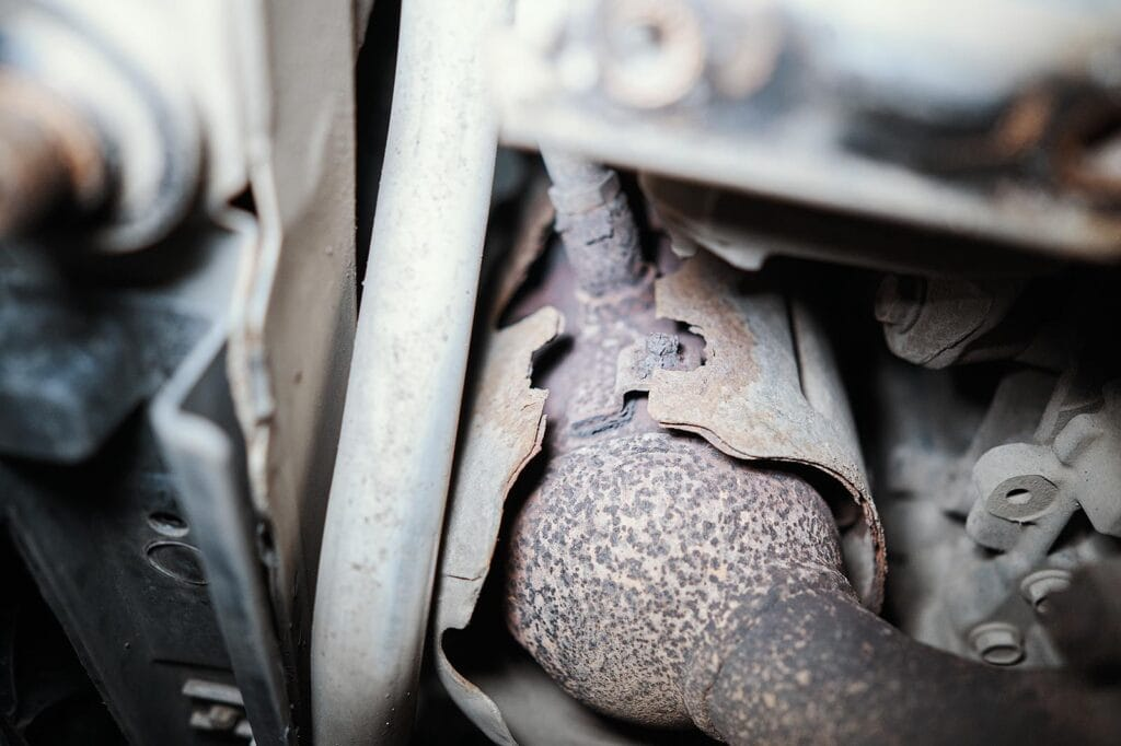 Развалилась термозащита левого катализатора