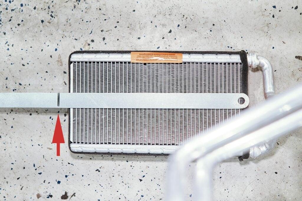 Короткий радиатор печки Додж Джорни