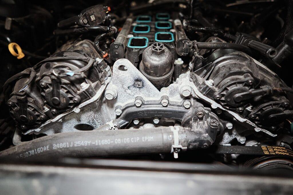 Двигатель покрыт окислами