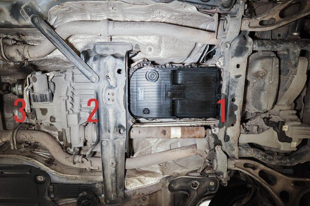 Точки крепления карданов к агрегатам