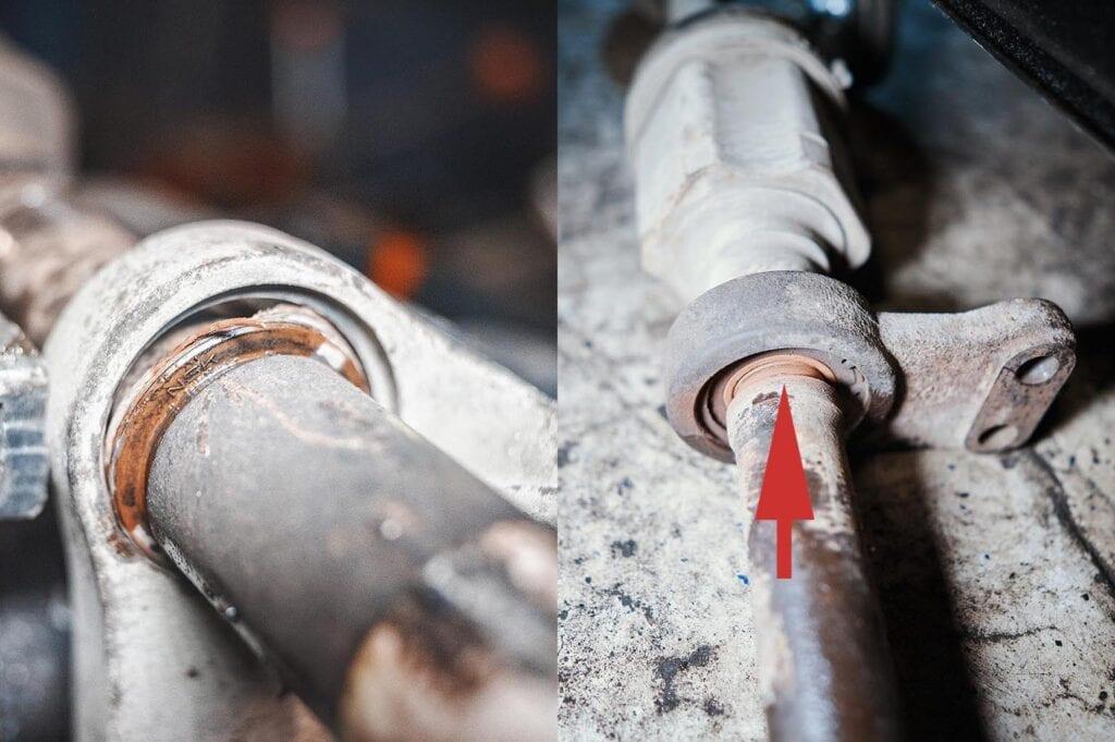 Слева алюминиевый кронштейн, справа – железный