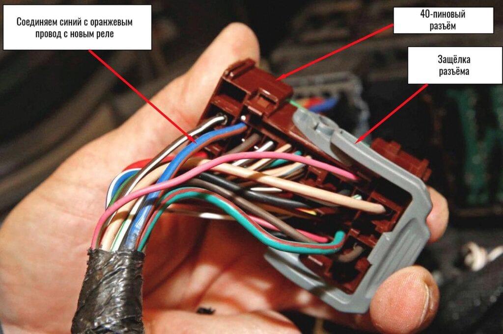 Синий с оранжевым тяжело перепутать с другими проводами