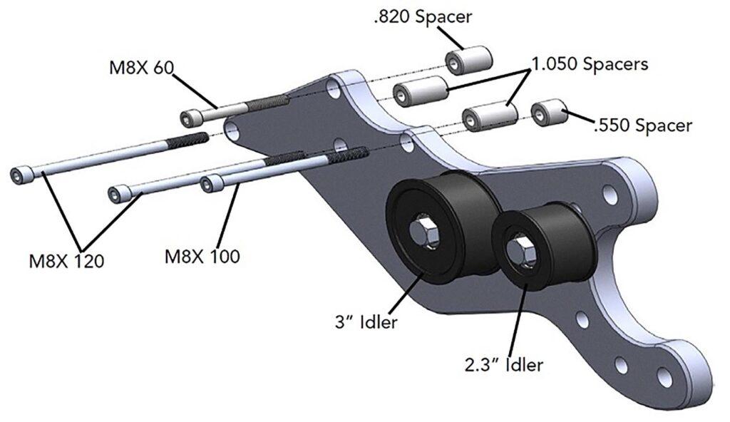 Расположение элементов на скобе